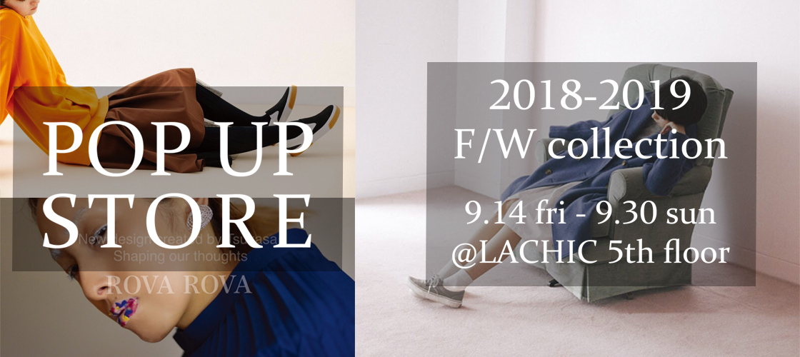 POP UP STPRE 9/14〜9/30 LACHIC 5thfloor